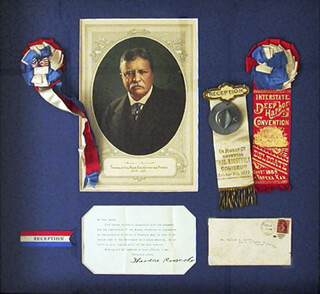 PRESIDENT THEODORE ROOSEVELT - COLLECTION 02/12/1906