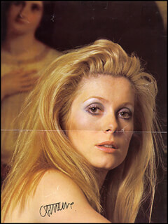 CATHERINE DENEUVE - MAGAZINE PHOTOGRAPH SIGNED