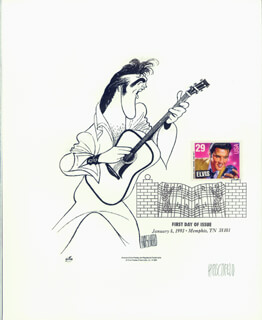 AL HIRSCHFELD - PRINTED ART SIGNED IN PENCIL CIRCA 1993