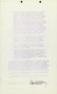 GENE RODDENBERRY - DOCUMENT SIGNED 07/14/1961