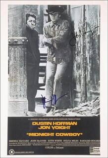 MIDNIGHT COWBOY MOVIE CAST - AUTOGRAPHED SIGNED POSTER CO-SIGNED BY: DUSTIN HOFFMAN, JON VOIGHT