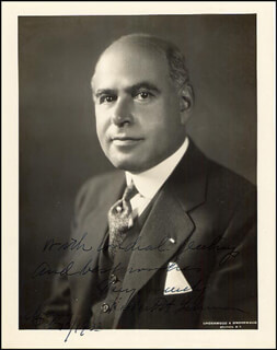 GOVERNOR HERBERT H. LEHMAN - AUTOGRAPHED SIGNED PHOTOGRAPH 02/10/1933