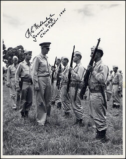 Autographs: GENERAL ALBERT COADY WEDEMEYER - PHOTOGRAPH SIGNED