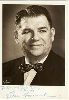 Autographs: OSCAR HAMMERSTEIN II - INSCRIBED PHOTOGRAPH SIGNED