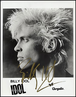 BILLY IDOL - AUTOGRAPHED SIGNED PHOTOGRAPH