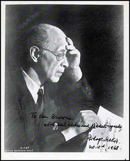 RUDOLF SERKIN - AUTOGRAPHED INSCRIBED PHOTOGRAPH 10/18/1968