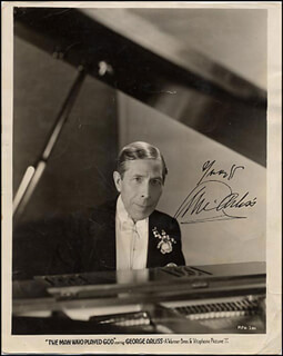 GEORGE ARLISS - AUTOGRAPHED SIGNED PHOTOGRAPH