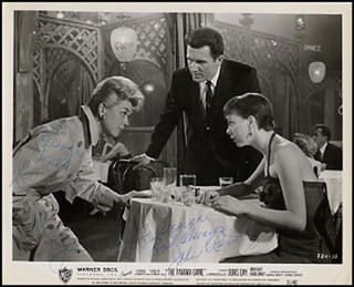THE PAJAMA GAME MOVIE CAST - INSCRIBED PRINTED PHOTOGRAPH SIGNED IN INK CO-SIGNED BY: DORIS DAY, JOHN RAITT