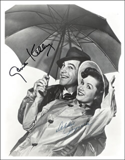 SINGIN'' IN THE RAIN MOVIE CAST - AUTOGRAPHED SIGNED PHOTOGRAPH CO-SIGNED BY: GENE KELLY, DEBBIE REYNOLDS