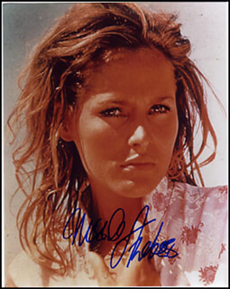 URSULA ANDRESS - AUTOGRAPHED SIGNED PHOTOGRAPH