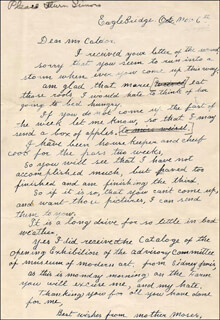 GRANDMA MOSES - AUTOGRAPH LETTER SIGNED 11/6