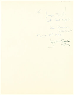 FIRST LADY JACQUELINE B. KENNEDY - INSCRIBED BOOK SIGNED CIRCA 1992 CO-SIGNED BY: LEE BOUVIER RADZIWILL