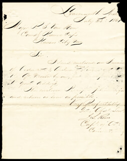 MAJOR GENERAL JESSE L. RENO - MANUSCRIPT LETTER SIGNED 07/23/1861