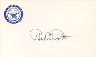 Autographs: ROBERT A. LOVETT - PRINTED CARD SIGNED IN INK