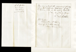 PRESIDENT CHESTER A. ARTHUR - AUTOGRAPH LETTER SIGNED 11/04/1869