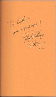 STEPHEN KING - INSCRIBED BOOK SIGNED 12/08/1992