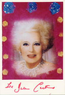 BARBARA H. CARTLAND - AUTOGRAPHED SIGNED PHOTOGRAPH