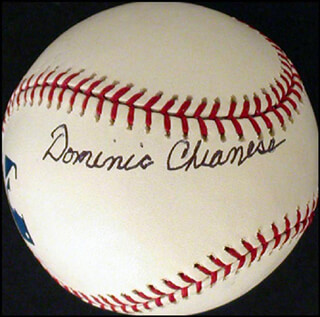 DOMINIC CHIANESE - AUTOGRAPHED SIGNED BASEBALL