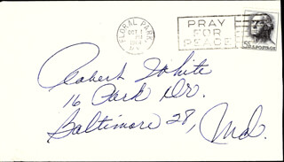 JAYNE MANSFIELD - AUTOGRAPH ENVELOPE UNSIGNED
