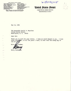 BARRY GOLDWATER - TYPED LETTER SIGNED BY AUTOPEN 05/14/1986