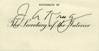 JULIUS A. KRUG - PRINTED CARD SIGNED IN INK