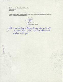 THOMAS A. DASCHLE - TYPED LETTER SIGNED 06/10/1997