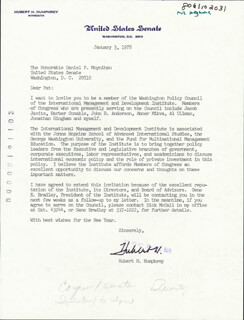 VICE PRESIDENT HUBERT H. HUMPHREY - TYPED LETTER SIGNED 01/03/1978