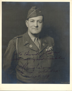 GENERAL HARRY H. VAUGHAN - AUTOGRAPHED INSCRIBED PHOTOGRAPH 09/12/1949