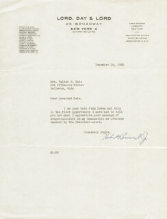 Autographs: HERBERT BROWNELL JR. - TYPED LETTER SIGNED 12/16/1952