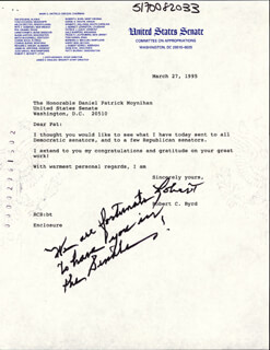 ROBERT C. BYRD - TYPED LETTER SIGNED 03/27/1995