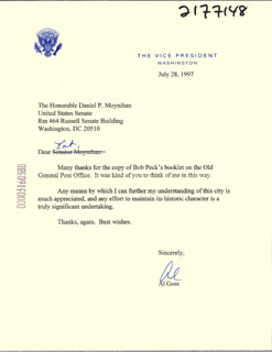 Autographs: VICE PRESIDENT ALBERT GORE JR. - TYPED LETTER SIGNED 07/28/1997