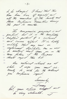 Autographs: PRESIDENT JAMES E. JIMMY CARTER - LETTER SIGNED 08/31/1978
