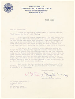 DOUGLAS McKAY - TYPED LETTER SIGNED 03/26/1954