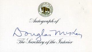 Autographs: DOUGLAS McKAY - PRINTED CARD SIGNED IN INK
