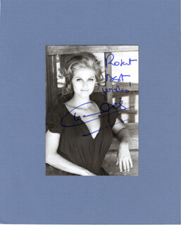 CLAUDIA CARDINALE - AUTOGRAPHED SIGNED PHOTOGRAPH