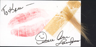 SUE ANE LANGDON - LIP PRINT SIGNED