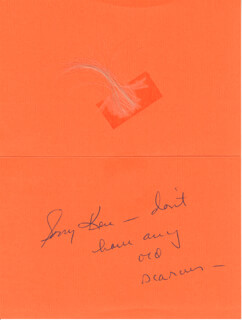 SUE ANE LANGDON - AUTOGRAPH NOTE UNSIGNED