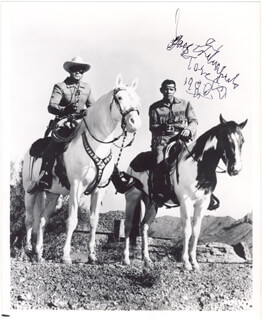 Autographs: JAY TONTO SILVERHEELS - INSCRIBED PHOTOGRAPH SIGNED 1980