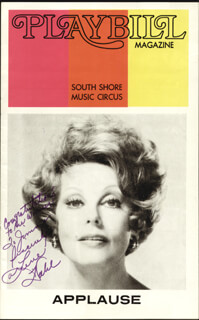 ARLENE DAHL - INSCRIBED SHOW BILL SIGNED CIRCA 1973