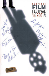 Autographs: THE CATONSVILLE NINE - PROGRAM SIGNED CIRCA 2001 CO-SIGNED BY: JOHN AGAR, FATHER DANIEL BERRIGAN, FATHER PHILIP BERRIGAN, CATONSVILLE NINE (TOM LEWIS), CATONSVILLE NINE (MARJORIE MELVILLE), CATONSVILLE NINE (TOM MELVILLE), CATONSVILLE NINE (GEORGE MISCHE), BILL O'CONNOR