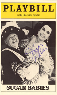 ANN MILLER - SHOW BILL COVER SIGNED