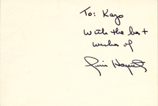 Autographs: JAMES CAMPBELL HAGERTY - AUTOGRAPH NOTE SIGNED