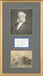 Autographs: JAMES A. GARY - SIGNATURE(S) 05/21/1897
