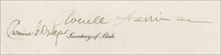 Autographs: W. AVERELL HARRIMAN - CIVIL APPOINTMENT SIGNED 12/20/1956 CO-SIGNED BY: CARMINE THE BISHOP DE SAPIO