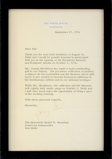 PRESIDENT GERALD R. FORD - TYPED LETTER SIGNED 09/17/1974