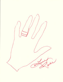 ARLENE DAHL - HAND/FOOT PRINT OR SKETCH SIGNED