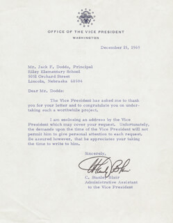 Autographs: CHARLES STANLEY BLAIR - TYPED LETTER SIGNED 12/15/1969