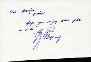 GERRY COONEY - AUTOGRAPH NOTE SIGNED