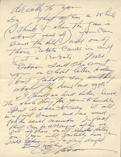 CHARLES DANA GIBSON - AUTOGRAPH LETTER SIGNED 03/08/1944