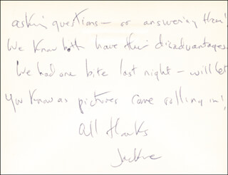 FIRST LADY JACQUELINE B. KENNEDY - AUTOGRAPH LETTER SIGNED 5/23